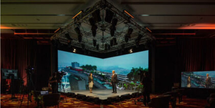 "Marina Bay Sands can ""beam"" holograms of speakers on stage for hybrid events"