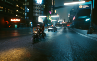 Playing Cyberpunk 2077 with the best PC graphics on an OLED TV