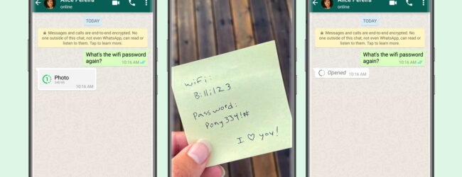 Now you can send WhatsApp pictures, videos to be viewed just once